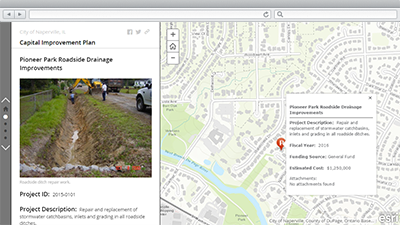 capital project planning arcgis for local government