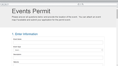 Events Permit | ArcGIS Solutions for Local Government