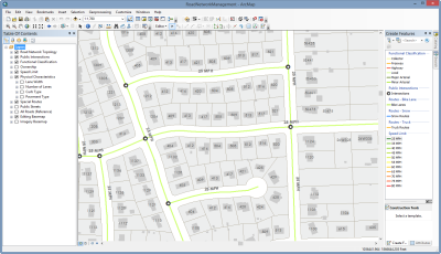 road network management is a configuration of arcmap that can be used by mapping technicians to inventory intersections roads and physical road