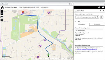 School Locator | ArcGIS Solutions for Local Government