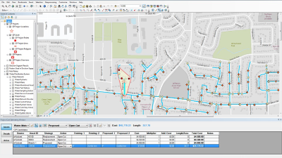 capital improvement planning arcgis for water